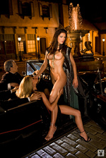 Adrianne curry january 2008 naked nude pussy nipples boob playboy magazine shoot 5